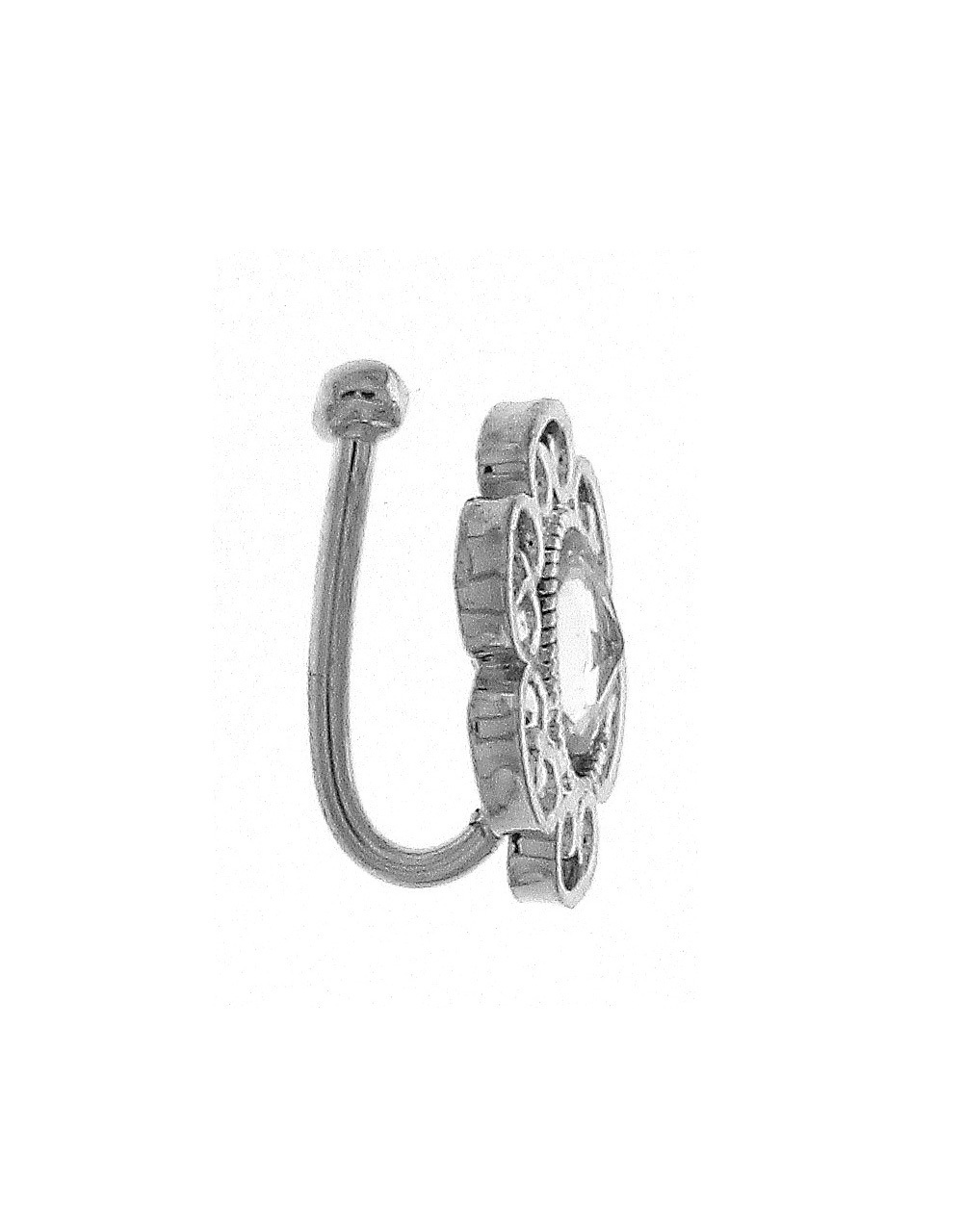 Silver Finish Stylish Nose Ring for Women