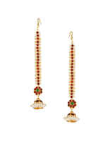Marron- Green Colour South Indian Jewellery Set