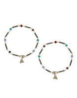 Multi Colour Designer Silver Anklets for Women