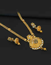 Golden Tone Long Necklaces Fashion Jewelry