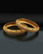 Gold Tone Fashionable Studded With Stones Fancy Stone Bangle