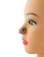 Oxidized Tone Black Colour Pressing Nose Stud