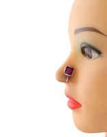 Rani Colour Round Shape Oxidised Finish Nose Jewelry