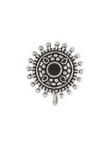 Floral Oxidized Finish Black Colour Oxidized Nose Pin
