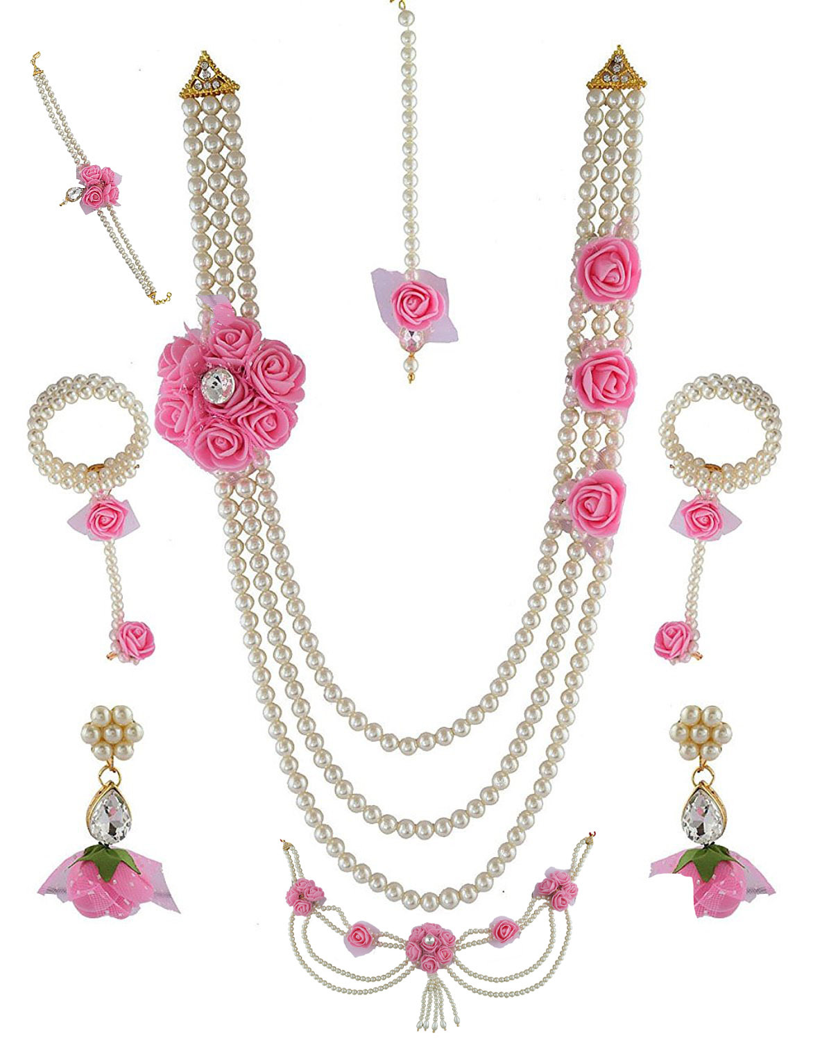 Buy Flower Jewellery For Baby Shower Styled With Beads Artificial
