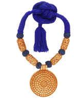 Blue Colour Geru Polish Rajasthani Jewellery Set
