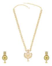 Designer American Diamond Long Necklace Set for Women
