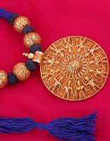 Blue Colour Geru Polish Designer Gold Finish Geru Jewelry