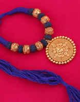 Blue Colour Ganpati Design Blue Colour Thread Jewelry