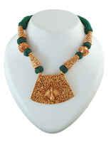 Green Colour Gold Finish Peacock Design Geru Jewellery