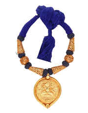 Blue Colour Fashinable Rajasthani Temple Jewellery Set