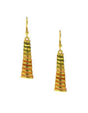 Gold Tone Multi Colour Chokar Pattern Necklace With Earrings