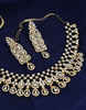White American Diamond Necklace Set Styled With Sparkling Diamonds Necklace With Earring Set
