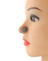 Oxidized Tone Yellow Colour Nose Stud Ring