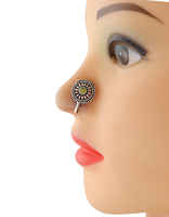 Oxidized Tone Yellow Colour Nose Stud Ring