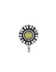 Yellow colour flower inspired wonderful Oxidised nose-pin