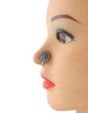 Simple Oxidised Nose Stud Ring