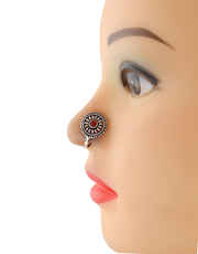 Oxidised Finish Red Colour Pressing Nose Stud