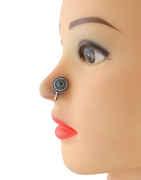 Round Shape Oxidised Finish Turquiose Colour Nose Clips