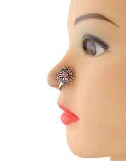 Unique Oxidised Tone Pink Colour Nose Ring