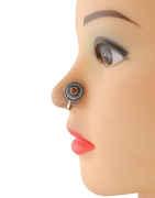 Orange Colour Oxidised Finish Designer Nose Nath