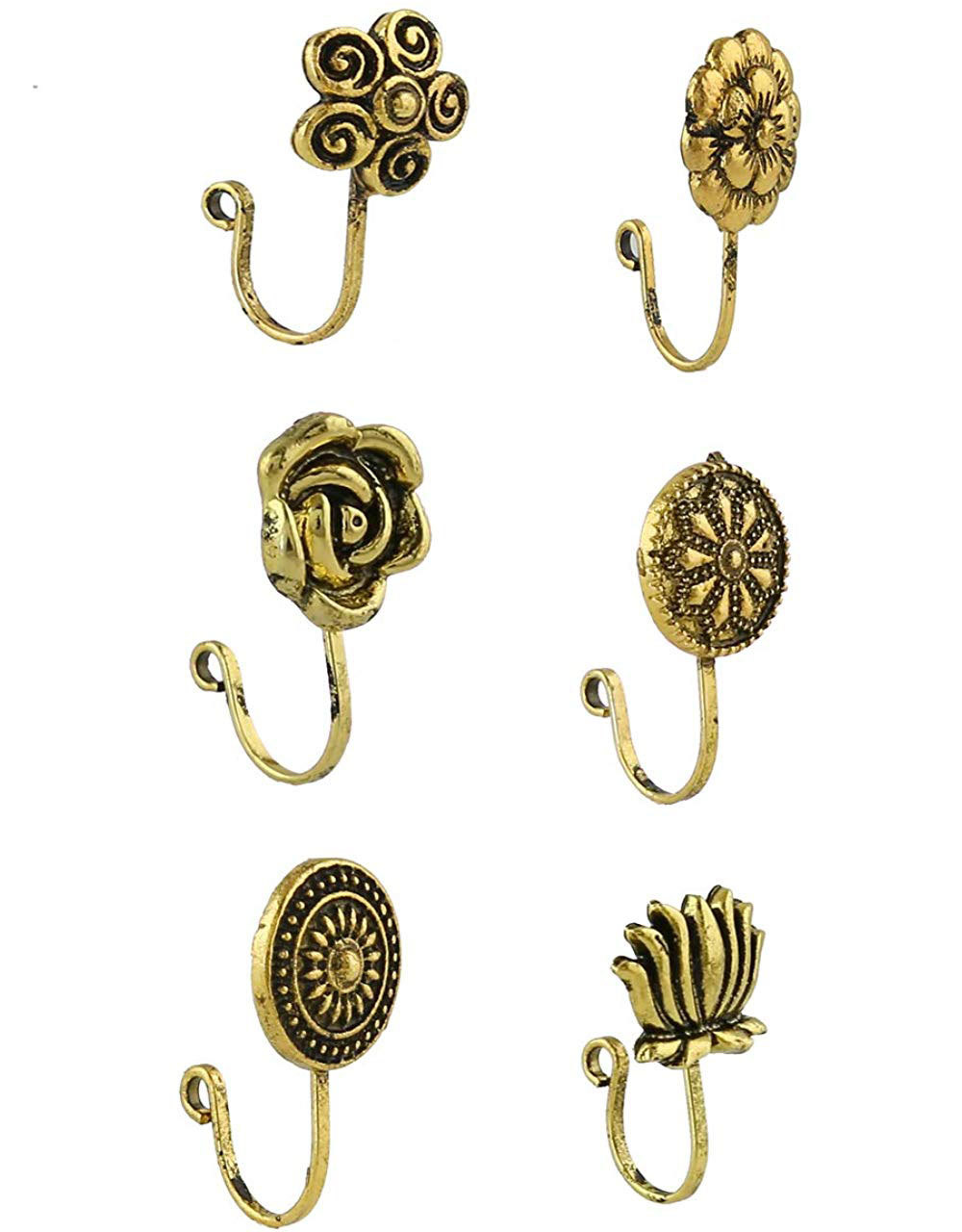 Trendy Nose Rings Combo Set