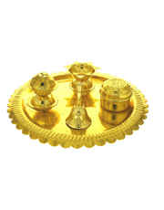 Decorative Pooja Thali For Ganesha Festival