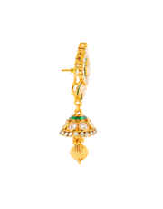Single Line Kundan Jewellery Studded With Stones Kundan Necklace For Girls
