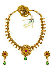 Golden Antique Jewellery Necklace Set for Women