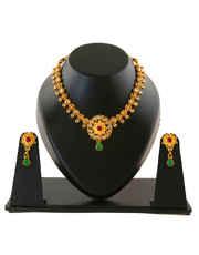 Golden Antique Jewellery Necklace Set for Women
