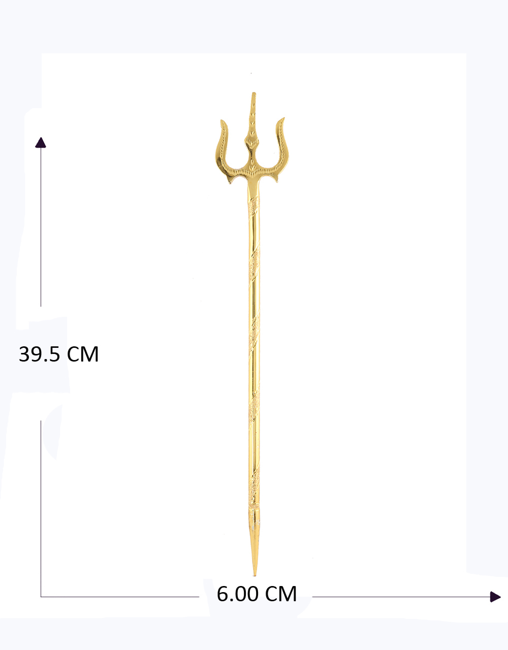 Gold Tone Trishul For Ganpati Decoration