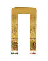 Gold Finish Beautiful Shawl For Ganpati Idol