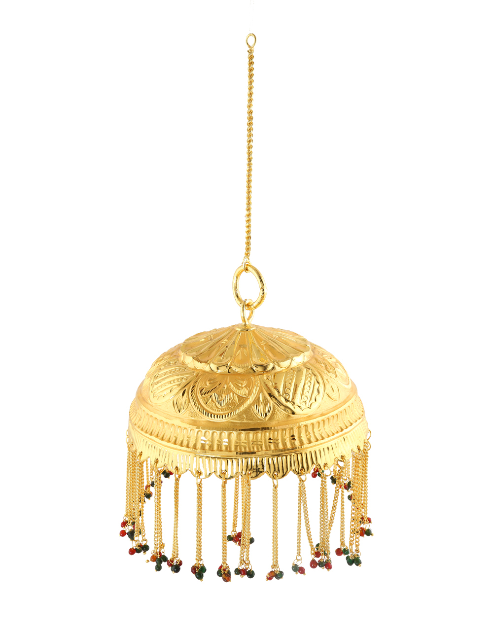 Adorable Gold Finish Ganpati Chatra For Ganpati Occasion