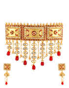 Red Colour Antique Jewellery Designer Padmavati Necklace Set for Women