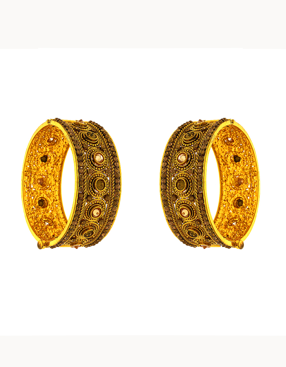 Adorable Heavy Bangles For Wedding Studded With Stones Imitation Bangles