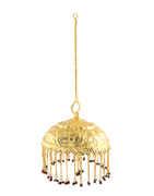 Gold Finish Adorable Hanging Chatra For Ganpati Sajavat