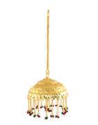 Ganapti Chatra Styled With Beads For Ganesha Sajavat
