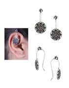 Tribal Oxidised Cuff Earrings for Women