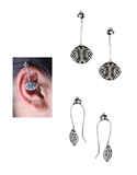 Stylish Oxidised Cuff Earrings for Women