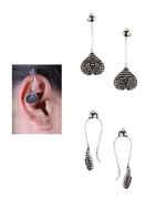 Oxidized Finish Upper Ear Clips For Western Wear