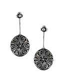 Silver Clip on Cuff Earrings Bugadi for Women
