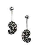 Silver Oxidised Ear Cuffs for Women