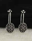 Oxidised Ear Cuffs Silver Bugadi Earrings for Women