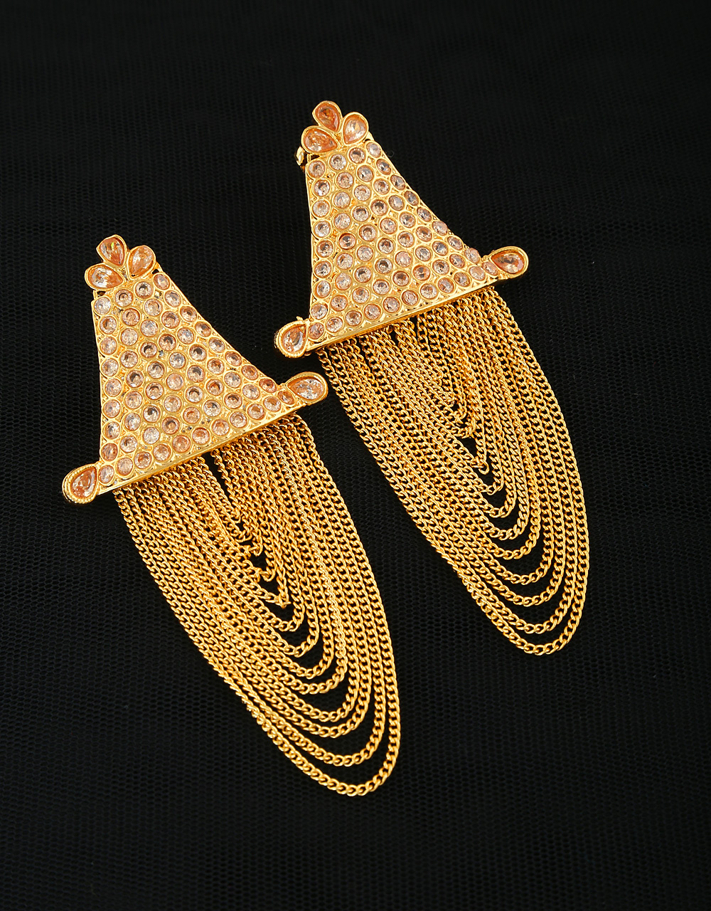 Gold Chain Earrings Design Foto Ring And Wallpaper