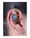 Oxidised Nose Pin And Bugadi Ear Cuff Combo Set