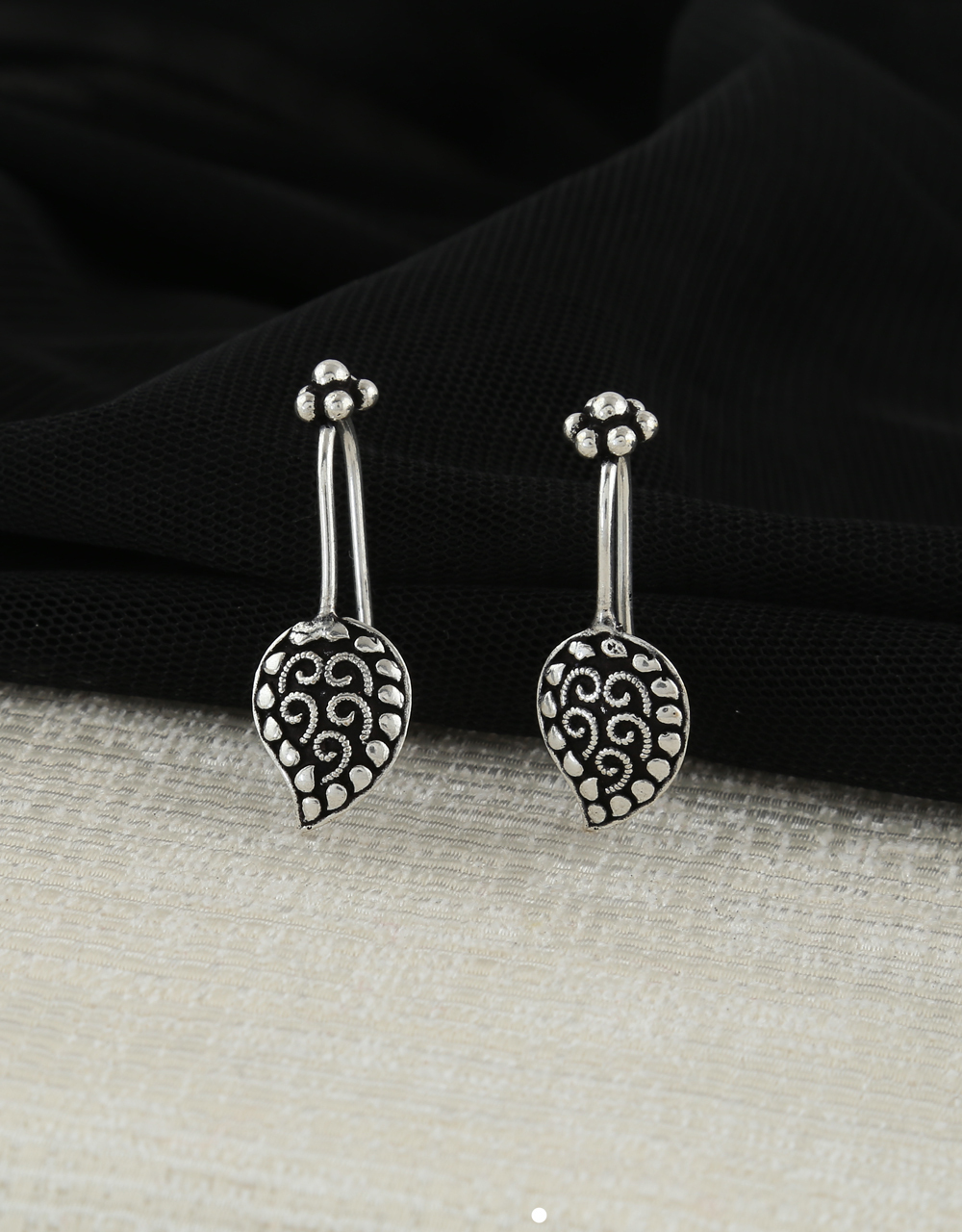 Oxidised Bugadi Nose Pin Combo Set