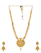 Gold Finish Very Classy Designer Long Necklace For Bridal