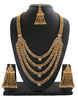 Gold Finish Very Classy Designer Layered Necklace Studded With Stones Jewellery