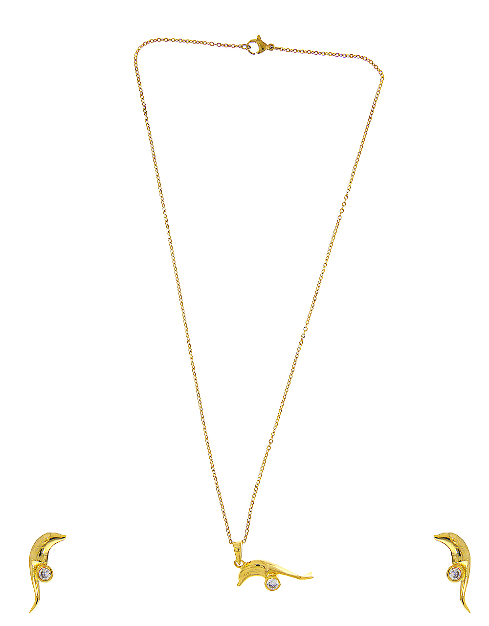Gold Finish Styled With Dolphin Design Pendant Accessories