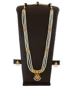Gold Finish Marathi Moti Necklace Styled With Stones Pearls Jewellery